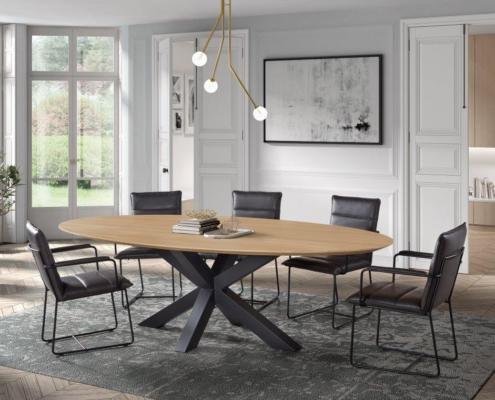 Massieve tafel ovaal Elips a la carte